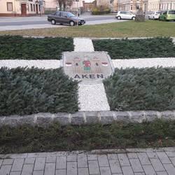 Ein großes Dankeschön an die Mitarbeiter des Akener Betriebshofes für die winterliche Gestaltung des Stadtsiegels am Schützenplatz