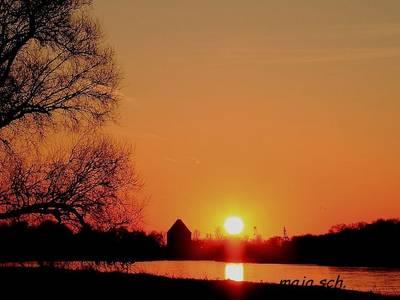 Sonnenuntergang an der Elbe [(c) Sabine Schumann]